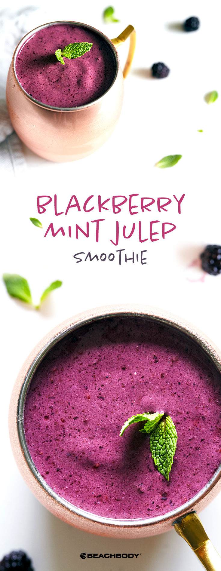 Blackberry Mint Julep Smoothie