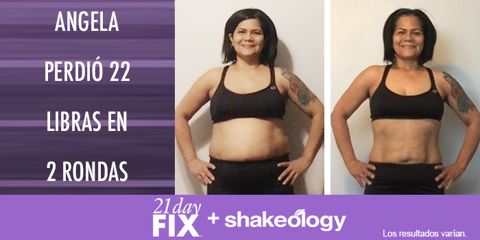 21 Day Fix Resultados Angela D